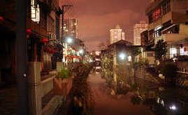 古老的硐桥 , 美丽的丰湖街夜色