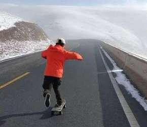340万步!瑞安滑板人用脚丈量川藏线