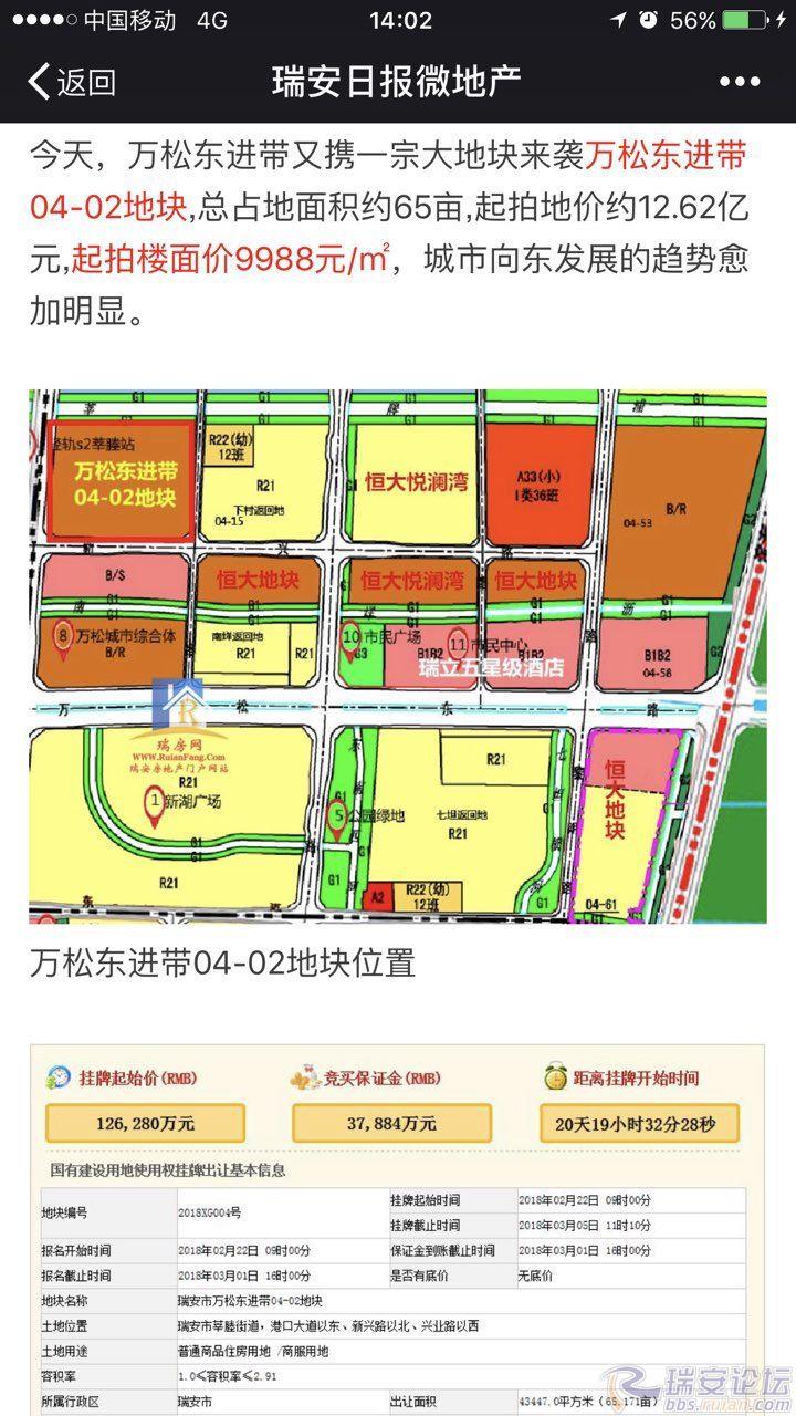 金沙线上娱乐官网:【土地】重磅!瑞安滨海新区地块又有动静了,起始楼面价9988元/�O!