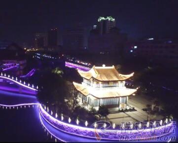 重庆时时彩官网:航拍塘河夜景,2分16秒,是你从未见过的美!