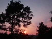 湖岭金斗寺上的晚光