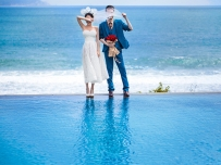 新人在拍户外婚纱摄影时的表现技巧