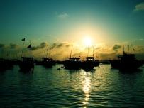 小岛的傍晚和晨曦